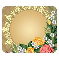 Rose Sunflower Star Floral Flower Frame Green Leaf Double Sided Flano Blanket (small)  by Mariart