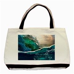 Sea Wave Waves Beach Water Blue Sky Basic Tote Bag (two Sides) by Mariart