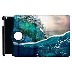 Sea Wave Waves Beach Water Blue Sky Apple Ipad 3/4 Flip 360 Case by Mariart