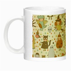 Sinister Helloween Cat Pumkin Bat Ghost Polka Dots Vampire Bone Skull Night Luminous Mugs by Mariart