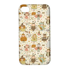 Sinister Helloween Cat Pumkin Bat Ghost Polka Dots Vampire Bone Skull Apple Iphone 4/4s Hardshell Case With Stand by Mariart