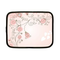 Simple Flower Polka Dots Pink Netbook Case (small)  by Mariart