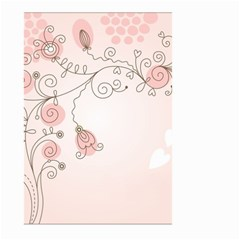 Simple Flower Polka Dots Pink Large Garden Flag (two Sides) by Mariart