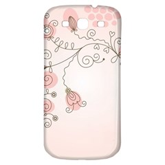 Simple Flower Polka Dots Pink Samsung Galaxy S3 S Iii Classic Hardshell Back Case by Mariart