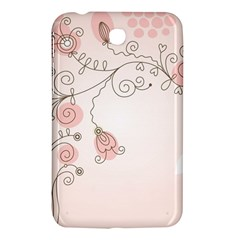 Simple Flower Polka Dots Pink Samsung Galaxy Tab 3 (7 ) P3200 Hardshell Case  by Mariart