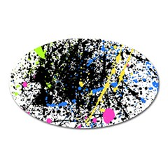 Spot Paint Pink Black Green Yellow Blue Sexy Oval Magnet by Mariart