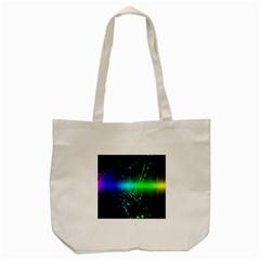 Space Galaxy Green Blue Black Spot Light Neon Rainbow Tote Bag (cream) by Mariart