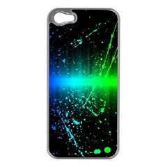 Space Galaxy Green Blue Black Spot Light Neon Rainbow Apple Iphone 5 Case (silver) by Mariart