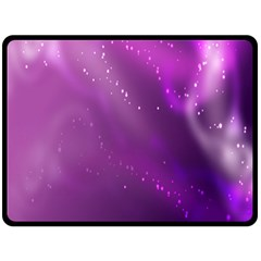 Space Star Planet Galaxy Purple Fleece Blanket (large)  by Mariart