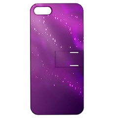 Space Star Planet Galaxy Purple Apple Iphone 5 Hardshell Case With Stand by Mariart