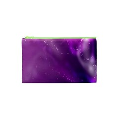 Space Star Planet Galaxy Purple Cosmetic Bag (xs) by Mariart