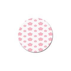 Star Pink Flower Polka Dots Golf Ball Marker (4 Pack) by Mariart