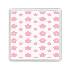 Star Pink Flower Polka Dots Memory Card Reader (square)
