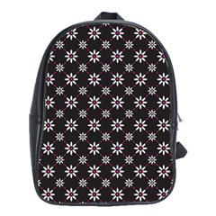 Sunflower Star Floral Purple Pink School Bag (large) by Mariart