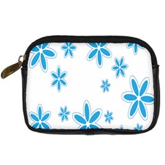 Star Flower Blue Digital Camera Cases by Mariart