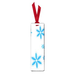 Star Flower Blue Small Book Marks by Mariart