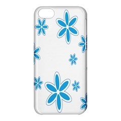 Star Flower Blue Apple Iphone 5c Hardshell Case by Mariart