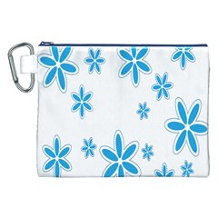 Star Flower Blue Canvas Cosmetic Bag (xxl) by Mariart