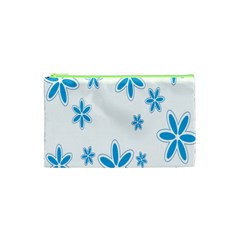 Star Flower Blue Cosmetic Bag (xs) by Mariart