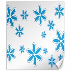 Star Flower Blue Canvas 8  X 10  by Mariart