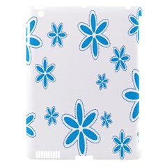 Star Flower Blue Apple Ipad 3/4 Hardshell Case (compatible With Smart Cover) by Mariart