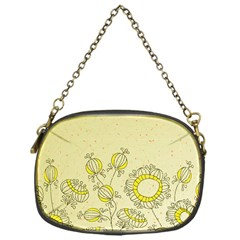 Sunflower Fly Flower Floral Chain Purses (one Side)  by Mariart