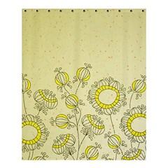 Sunflower Fly Flower Floral Shower Curtain 60  X 72  (medium)  by Mariart