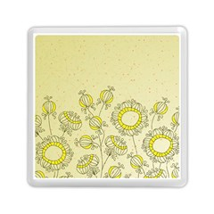 Sunflower Fly Flower Floral Memory Card Reader (square)  by Mariart