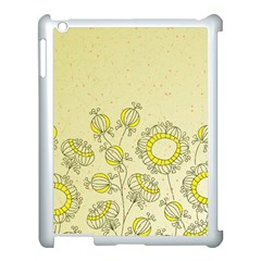 Sunflower Fly Flower Floral Apple Ipad 3/4 Case (white) by Mariart
