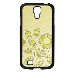 Sunflower Fly Flower Floral Samsung Galaxy S4 I9500/ I9505 Case (black) by Mariart