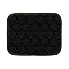 Skin Abstract Wallpaper Dump Black Flower  Wave Chevron Netbook Case (small)  by Mariart