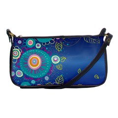 Flower Blue Floral Sunflower Star Polka Dots Sexy Shoulder Clutch Bags by Mariart