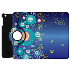 Flower Blue Floral Sunflower Star Polka Dots Sexy Apple Ipad Mini Flip 360 Case by Mariart