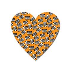 Pattern Halloween  Heart Magnet by iCreate