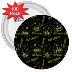 Pattern Halloween Witch Got Candy? Icreate 3  Buttons (100 Pack)  by iCreate
