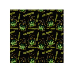 Pattern Halloween Witch Got Candy? Icreate Small Satin Scarf (square) by iCreate