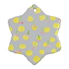 Cute Fruit Cerry Yellow Green Pink Ornament (snowflake) by Mariart