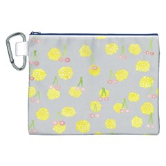 Cute Fruit Cerry Yellow Green Pink Canvas Cosmetic Bag (xxl) by Mariart