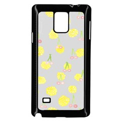 Cute Fruit Cerry Yellow Green Pink Samsung Galaxy Note 4 Case (black) by Mariart