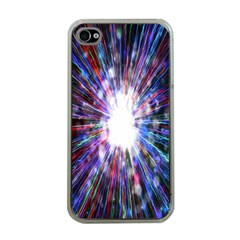 Seamless Animation Of Abstract Colorful Laser Light And Fireworks Rainbow Apple Iphone 4 Case (clear) by Mariart