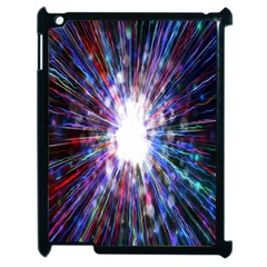 Seamless Animation Of Abstract Colorful Laser Light And Fireworks Rainbow Apple Ipad 2 Case (black) by Mariart