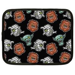 Pattern Halloween Werewolf Mummy Vampire Icreate Netbook Case (large) by iCreate