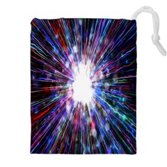 Seamless Animation Of Abstract Colorful Laser Light And Fireworks Rainbow Drawstring Pouches (xxl) by Mariart