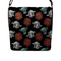 Pattern Halloween Werewolf Mummy Vampire Icreate Flap Messenger Bag (l)  by iCreate
