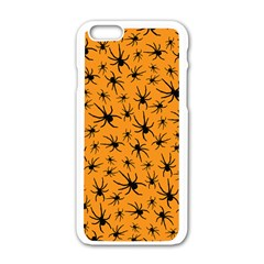 Pattern Halloween Black Spider Icreate Apple Iphone 6/6s White Enamel Case by iCreate
