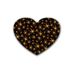 Halloween Spiders Rubber Coaster (heart)  by iCreate