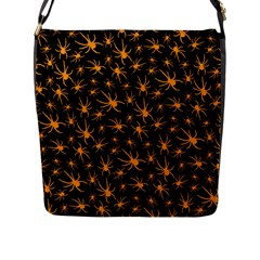 Halloween Spiders Flap Messenger Bag (l)  by iCreate
