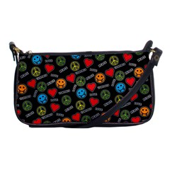 Pattern Halloween Peacelovevampires  Icreate Shoulder Clutch Bags by iCreate