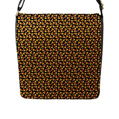 Pattern Halloween Candy Corn   Flap Messenger Bag (l)  by iCreate
