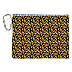 Pattern Halloween Candy Corn   Canvas Cosmetic Bag (xxl) by iCreate